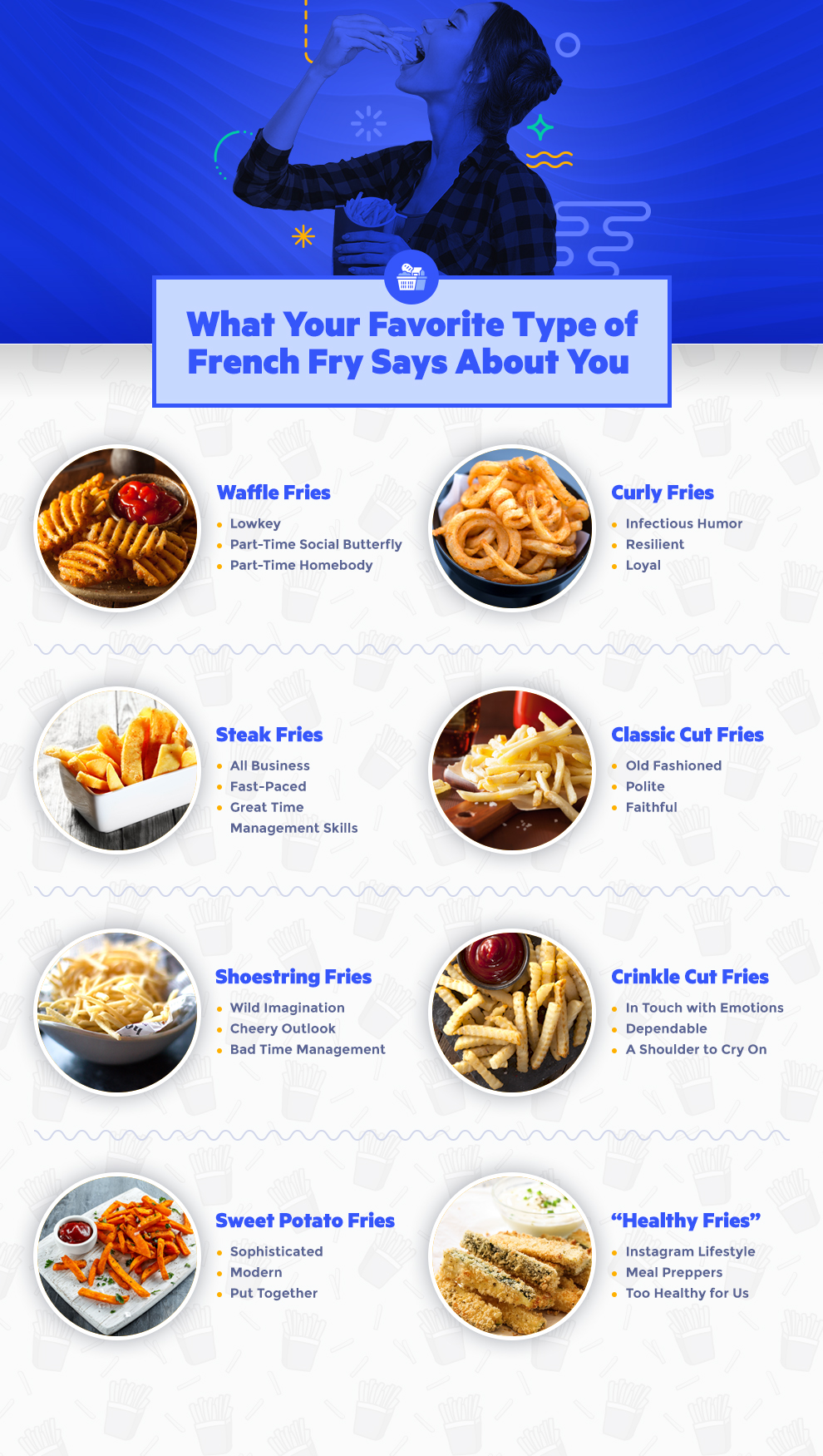 french fry infographic